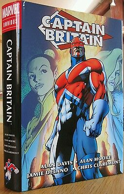 Captain Britain Omnibus. Alan Moore. Sealed. Rare and Out Of Print.