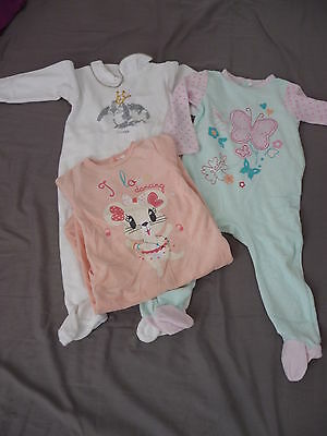 Lot de 3 pyjamas velours bébé fille 18 mois