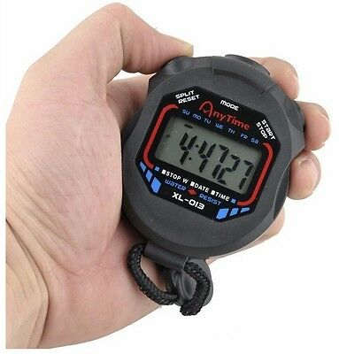 Chronomètre Main sport Course Ecole Digital Handheld LCD Chronograph Stopwatch