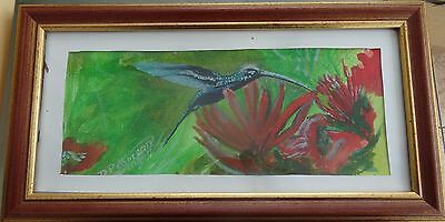 original watercolour painting humming bird