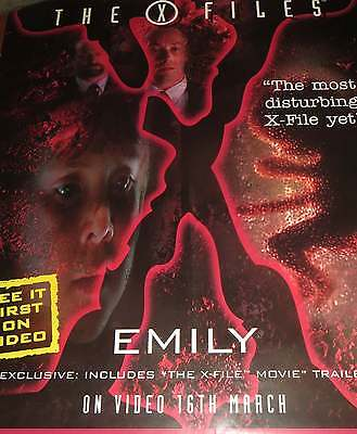 The X-Files - Emily - Rare Iconic Video Promo Poster from mid 1998 - X Files