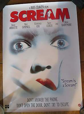 Wes Craven SCREAM - Rare Iconic Video Promo Poster from the nineties