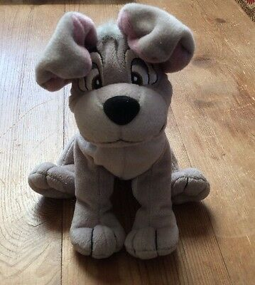 """Official Disney Lady And The Tramp Scamp Soft Toy Plush 6"""" Beans To Bottom Vgc"""