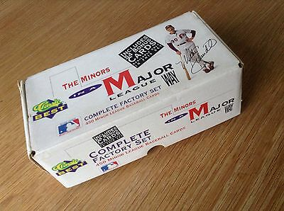Complete Box Set Classic Baseball Trading Cards