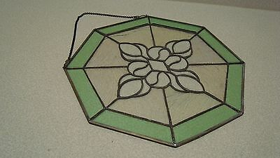"Faux Hanging 14"" Antique Stained Leaded Glass"