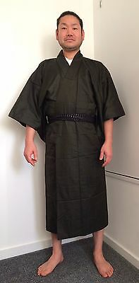Authentic vintage Japanese brown kimono for men, imported from Japan (G825)