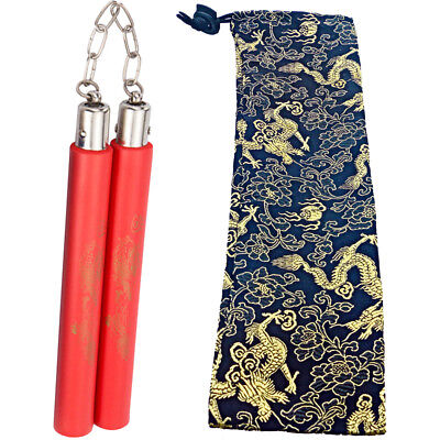 Bruce Lee Martial Arts Foam Nunchucks Nunchakus Dragon Pattern Practice Kung Fu
