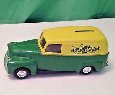 John Deere And Company 1950 Panel Delivery Car, ERTL Coin Bank