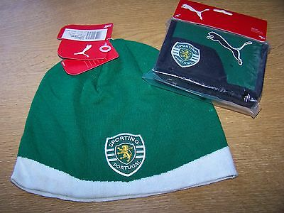 Sporting Portugal - Official Beanie & Wallet Package - New - Free Uk P&p