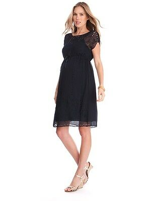 Seraphine Vienna Maternity Dress, Navy, Size 14. RRP £65