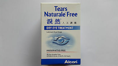 ALCON Tears Naturale Free Lubricant Eye Drops 32 x 0.8mL