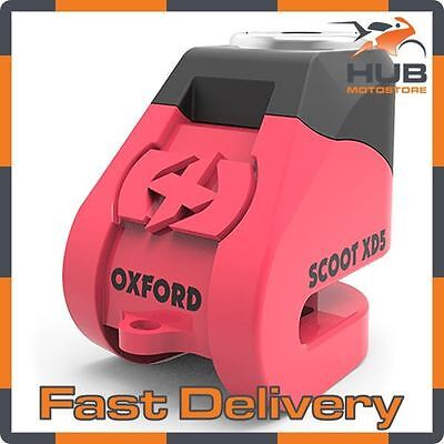 Oxford Scoot XD5 Motorcycle Motorbike Scooter 5mm Disc Lock - Pink