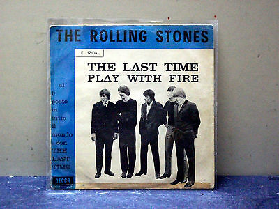 "Rolling Stones-45- ""the Last Time-Play With Fire""- Italy Press 1965"