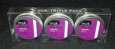 Filthy Muk Triple Hair Wax Gift Pack 3x Tins of 50g Firm Hold Paste (£6.00 each)