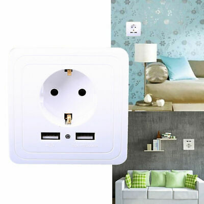 EU Plug Standard AC Power 16A 250V Wall Charger Outlet Panel Power Socket Plate