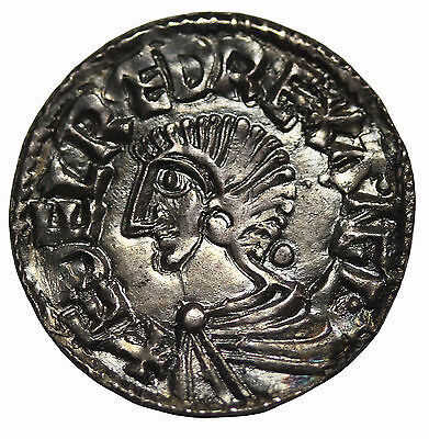 Great Britain Aethelred II 978-1016 AD Silver Penny Medieval Coin S.1151