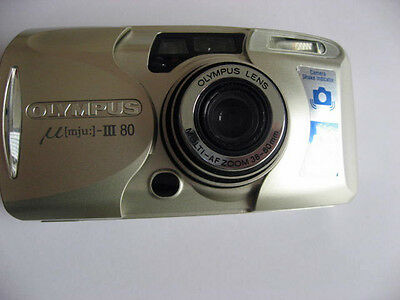 Olympus Mju Zoom 80 Compact Camera All Weather boxed & case & instructions