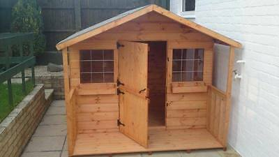 Shedrite's High Quality Wooden 8X6 Playhouse