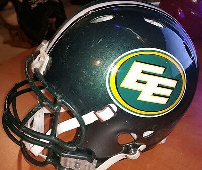 EDMONTON ESKIMOS CFL CANADA Green Riddell Revolution FOOTBALL Helmet Medium