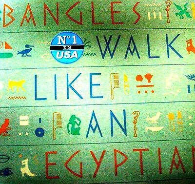 "12"" - Bangles - Walk Like An Egyptian (Spanish Edit 1986) Mint Listen, Nuevo Oye"