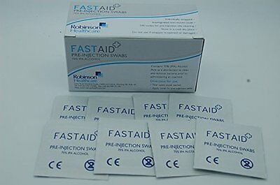Fastaid 70% IPA Alcool Lingettes, Tampons, Tatouage, Écouvillons Pré-injection
