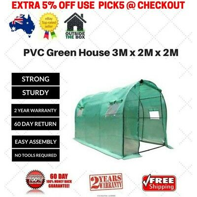 Large Garden Greenhouse Hothouse Green Cover Arch Roof Shade Mesh Potting Shed