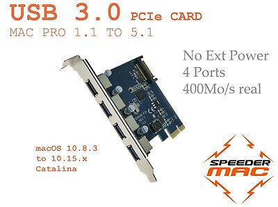   USB 3.0 PCI Express adapter card 4 port for Mac Pro 1.1 à 5.1 - 2006 to 2012