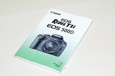 MANUAL CANON ORIGINAL EOS 500D rebet t1i  ENGLISH 227 pag.