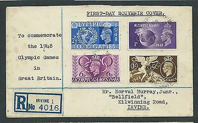 GVI FDC Olympic Games 1948.