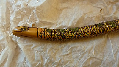 """15 """"L Flexible Articulated Snake Wooden Toy Reptile Animal Handcrafted"""
