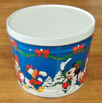 Disney - Mickey Mouse & Donald Duck Christmas Tin Container - Bertels Can Co.
