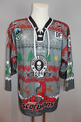 "Hannover Lady Scorpions 15/16 "" Christmas Sweater "" Game Worn Jersey #18 - DFEL"