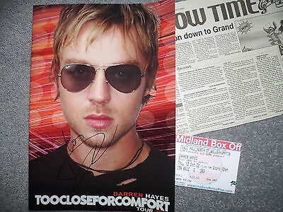 Signed Darren Hayes Tour Brochure TOOCLOSEFORCOMFORT 2002 + TICKET & REVIEW