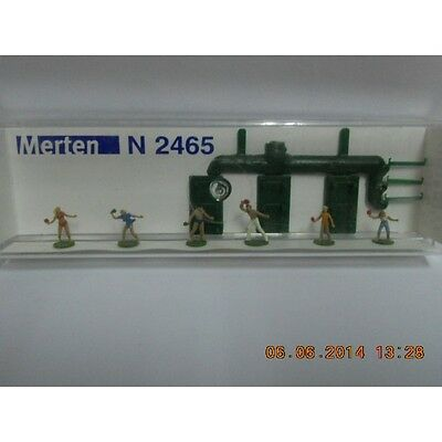 Merten N 2465 Figure Pack Ping Pong Players 6 And 3 Tables 1:160 N Scale