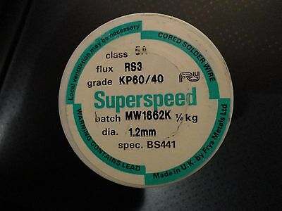 Frys Superspeed Solder - Multicore Tin / Lead 1.2mm  KP60/40  250g Roll  RS3
