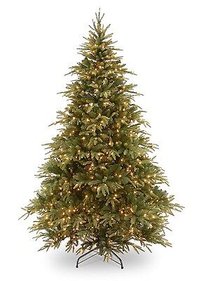 6.5ft National Tree Pre-Lit Weeping Spruce Artificial Christmas Tree