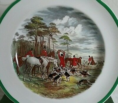 "Copeland Spode J F Herring Sen hunting plate 1930s "" The Death "" hunt hounds"