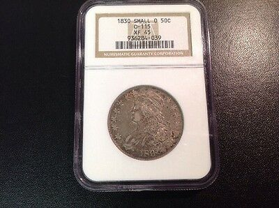 1830 Capped Bust Half Dollar Small O Ngc Xf45