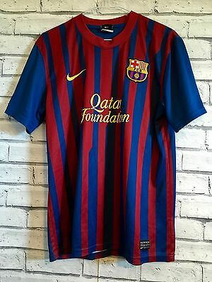 Vintage Nike Barcelona Football Shirt Trikot Soccer Jersey M Medium