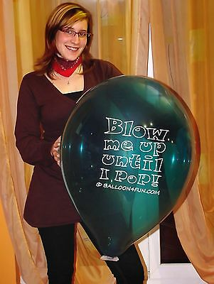 "10 x Riesen Luftballons Ø 45 cm""Blow me up until i pop""giant balloons looner"