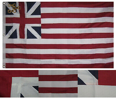 3x5 Embroidered Sewn Union Civil War Ft Sumter Synthetic Cotton 3/'x5/' w// 3 Clips