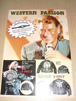 JOHNNY HALLYDAY Western Passion 1995 Flyers merchandising catalogue 4 pages