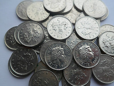 5p Coin Five Pence Queen Elizabeth II Sterling Great British Coin From 1990-2016