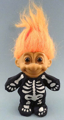 "Russ Berrie Troll Skeleton doll 4.5"" tall Halloween"