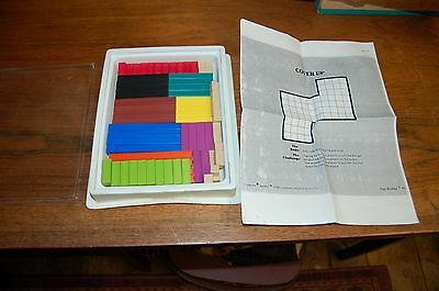 Cuisenaire Rods Assortment Home School Vintage Math Manipulative 73 Colored Rods