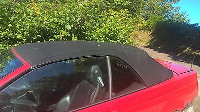 Genuine BMW E46 3-series Msport Facelift Convertible Black Hood Roof Rear Screen