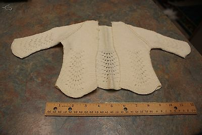 Vintage Childs Baby Sweater White