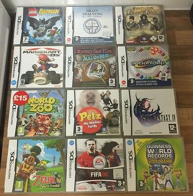 Nintendo Ds Game Box & Instructions Only Job Lot Bundle NO GAMES