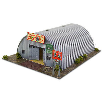 "BK 4300 1:43 Scale ""Quonset Hut"" Photo Real Scale Building Kit"
