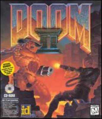 Doom II 2 Hell on Earth PC CD classic shooter destroy demons gun weapon game!
